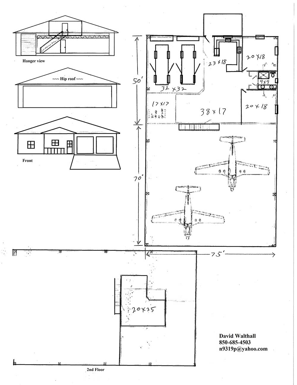 Hangar home floor plans for Design your house plans